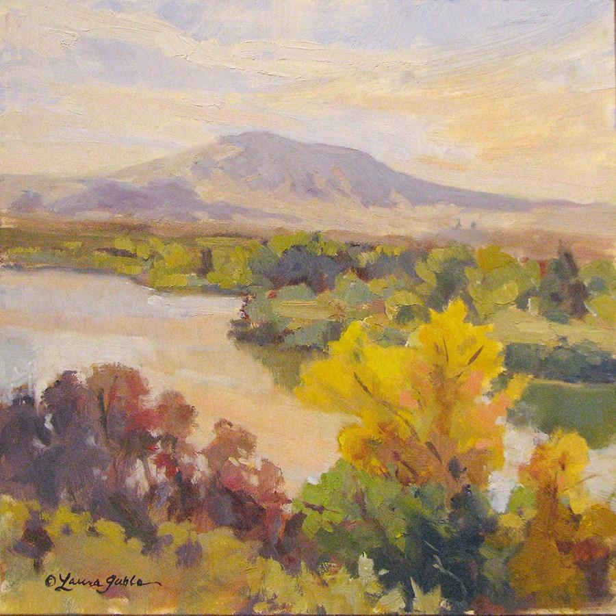 """Rattlesnake Mountain at Golden Hour"" original fine art by Laura Gable"