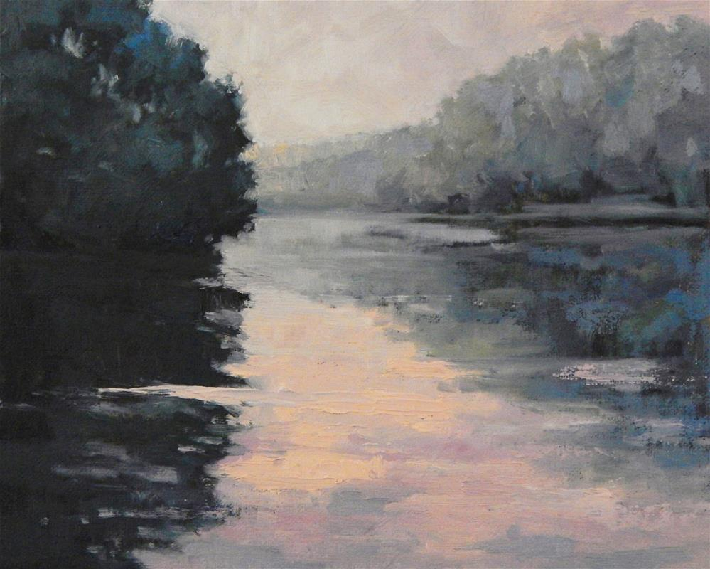 """River at Dawn"" original fine art by Lisa Kyle"