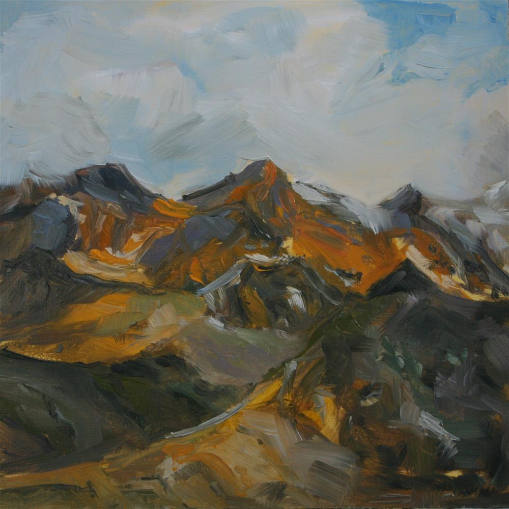 """Mountain Tops"" original fine art by Aniko Makay"