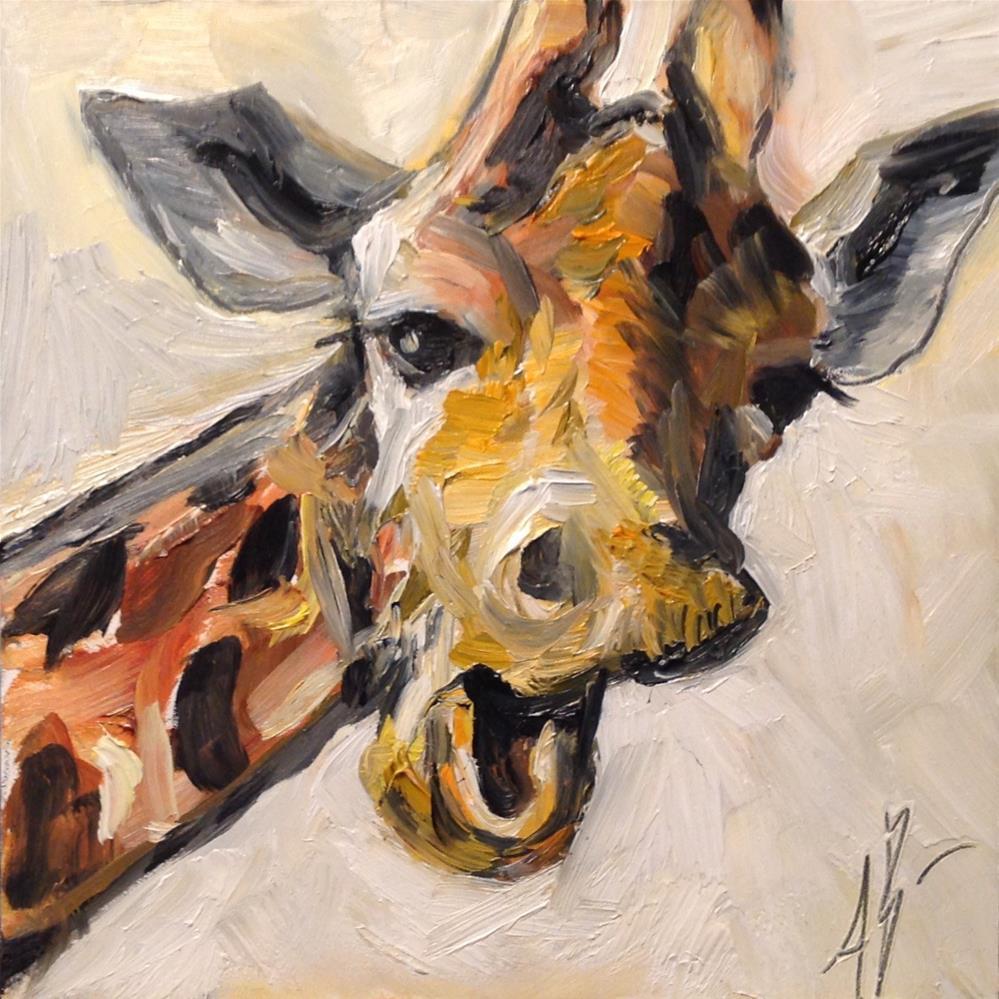 """Zoo resident"" original fine art by Annette Balesteri"
