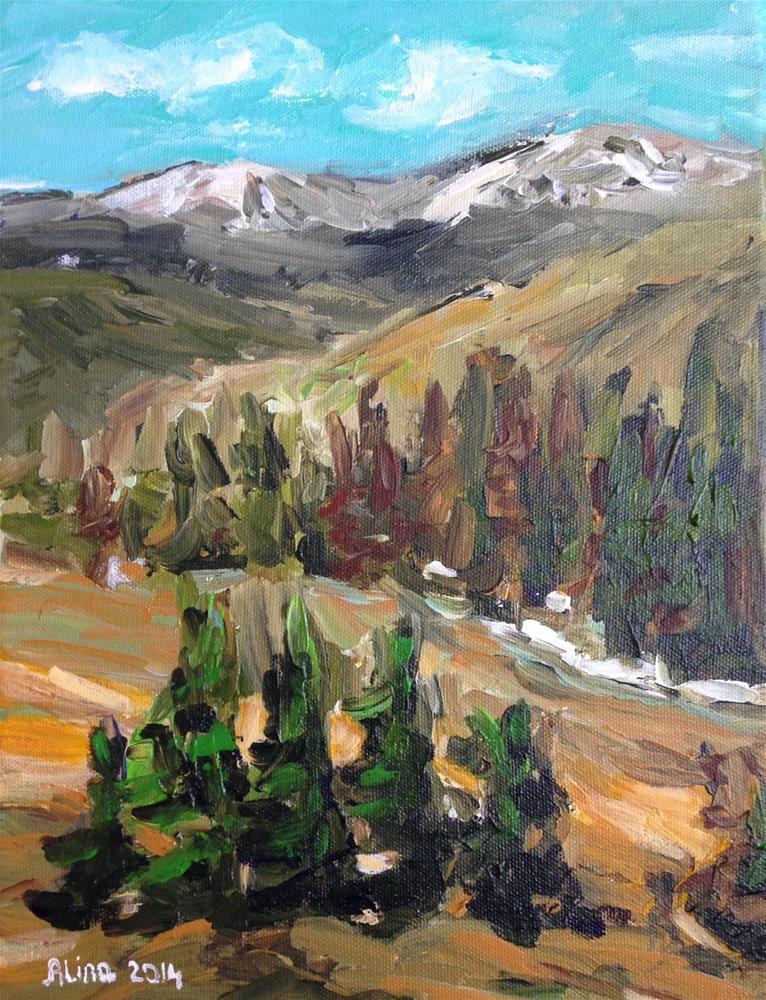 """""""Mountain Vista"""" original fine art by Alina Vidulescu"""