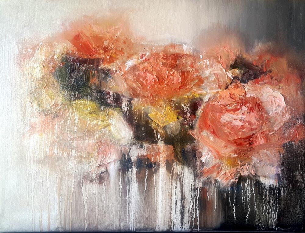 """Feelin peachy"" original fine art by Rentia Coetzee"