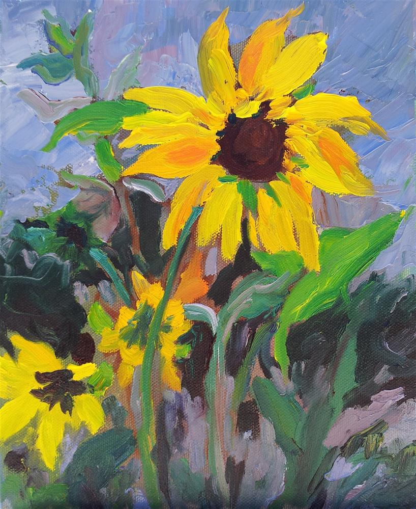 """Sunflower"" original fine art by Loralee Chapleau"