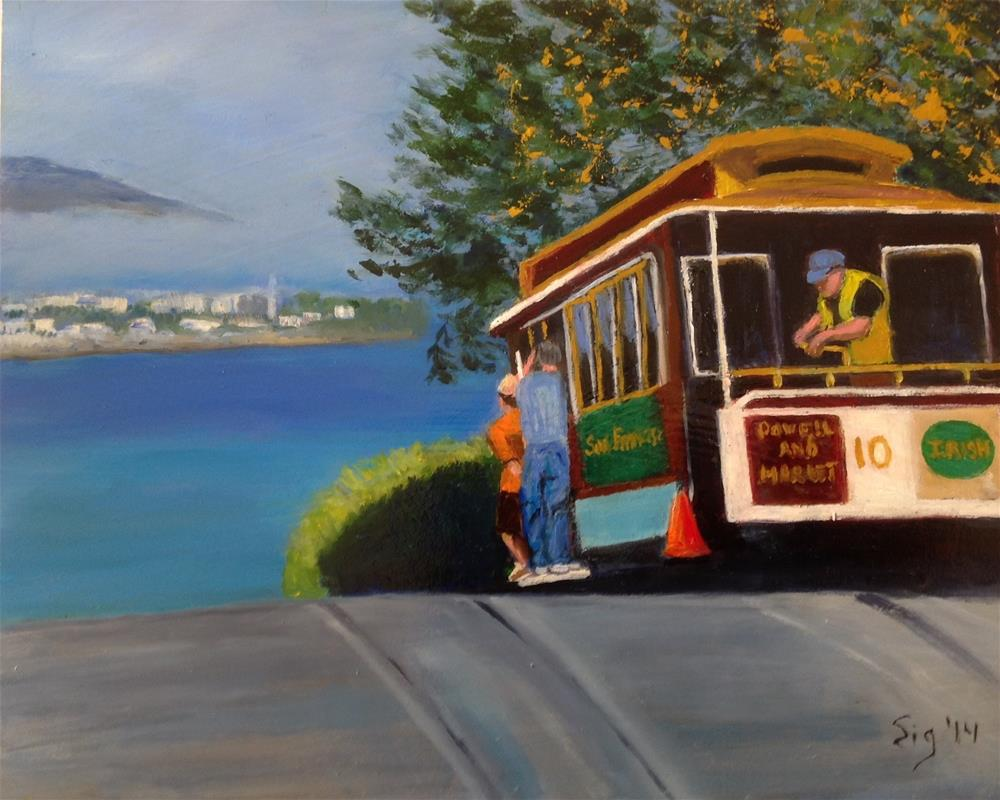 """Trolly Ride"" original fine art by Sigrid Victor"
