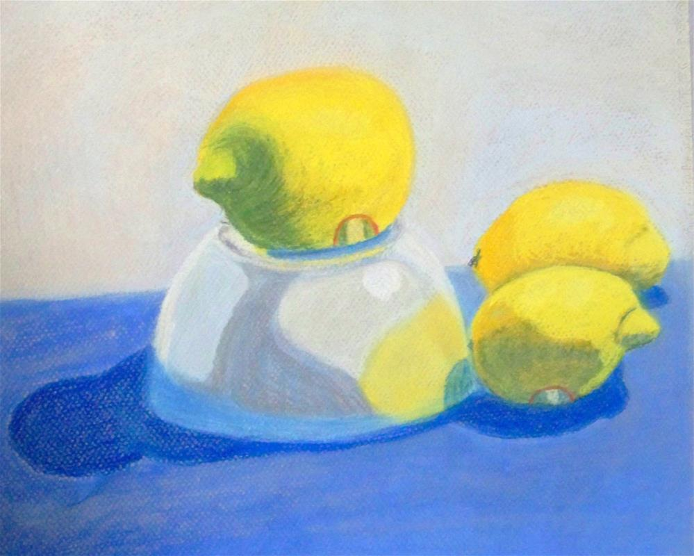 """Still Life with Lemons"" original fine art by Elaine Shortall"