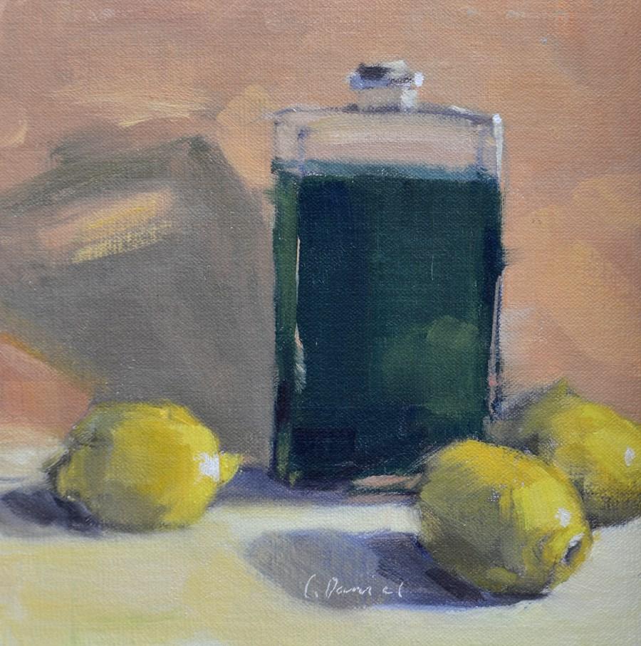 """""""Lemon-Lime Elixir - Twenty-four of 30 in 30"""" original fine art by Laurel Daniel"""