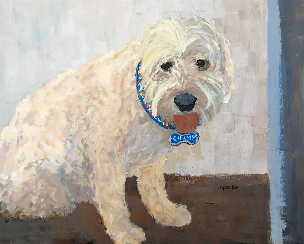 """Champ"" original fine art by Christine Parker"