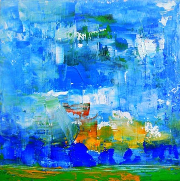 """Landscape No 56"" original fine art by Katie Jeanne Wood"