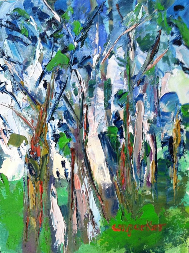 """Trees"" original fine art by Christine Parker"