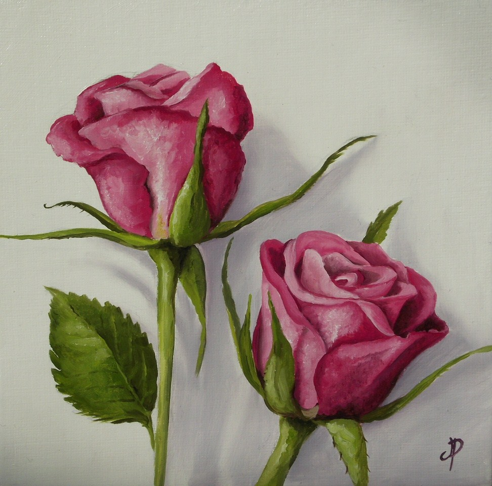 """Pink Roses"" original fine art by Jane Palmer"