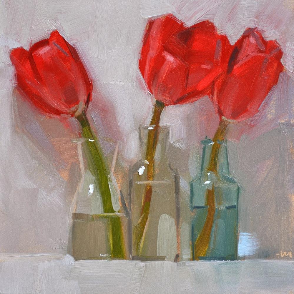 """Threelips"" original fine art by Carol Marine"