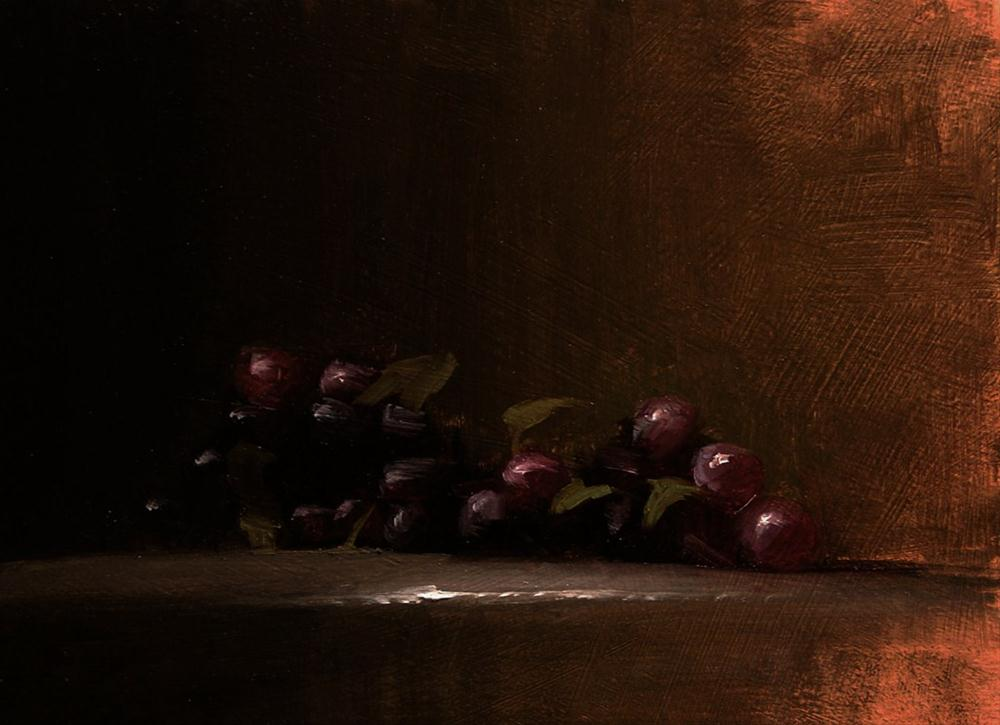 """Grapes - study"" original fine art by Neil Carroll"