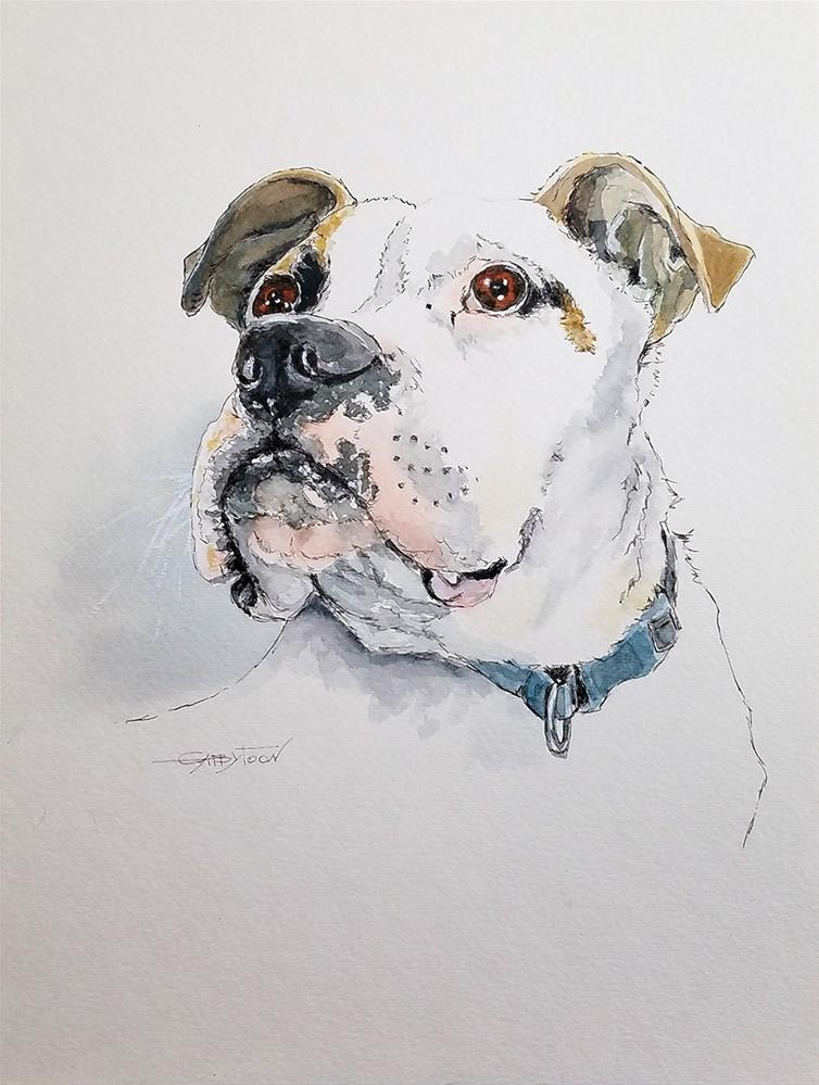 """Dog"" original fine art by Gabriella DeLamater"