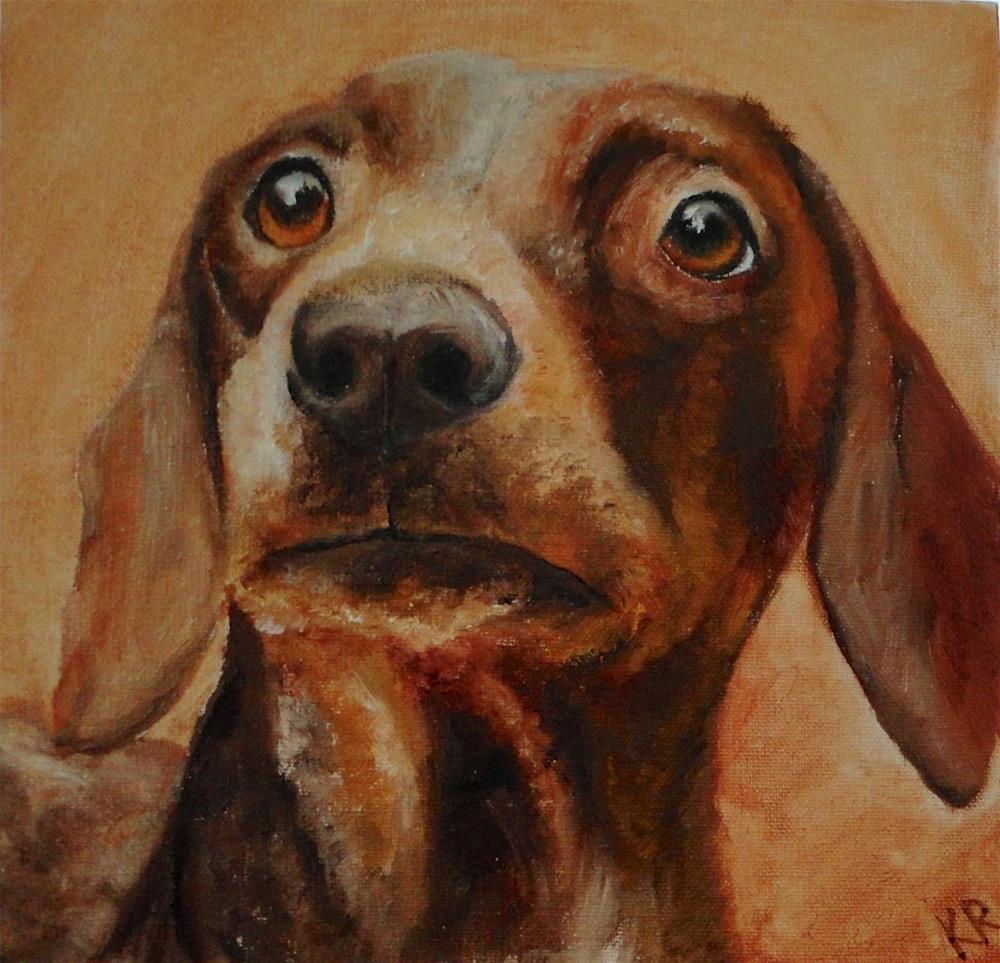 """Puzzled face"" original fine art by Karen Robinson"