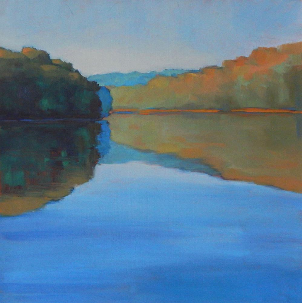 """Lake Abstract"" original fine art by Lisa Kyle"