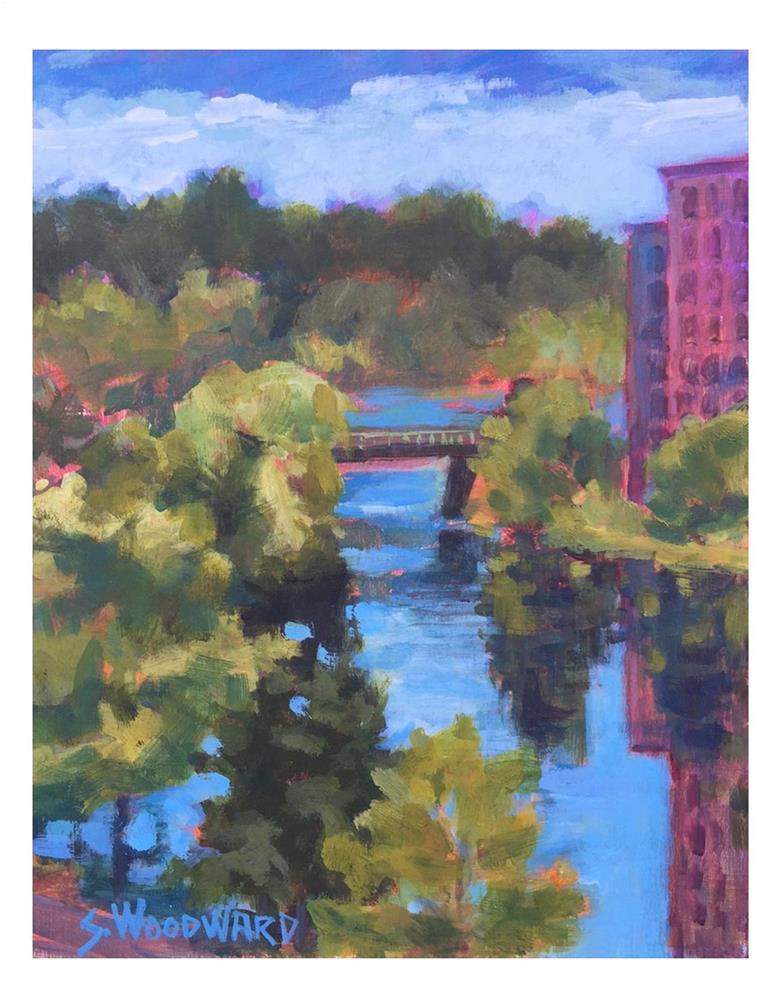 """""""Bridge Street Bridge"""" original fine art by Suzanne Woodward"""