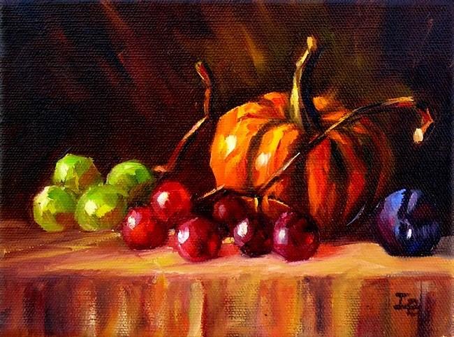 """Autumn Gifts"" original fine art by Irina Beskina"