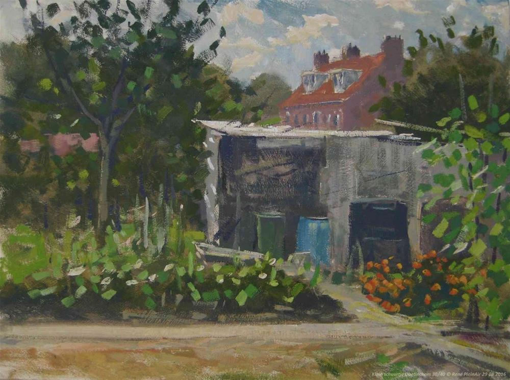 """Little shed. Doetinchem, the Netherlands"" original fine art by René PleinAir"