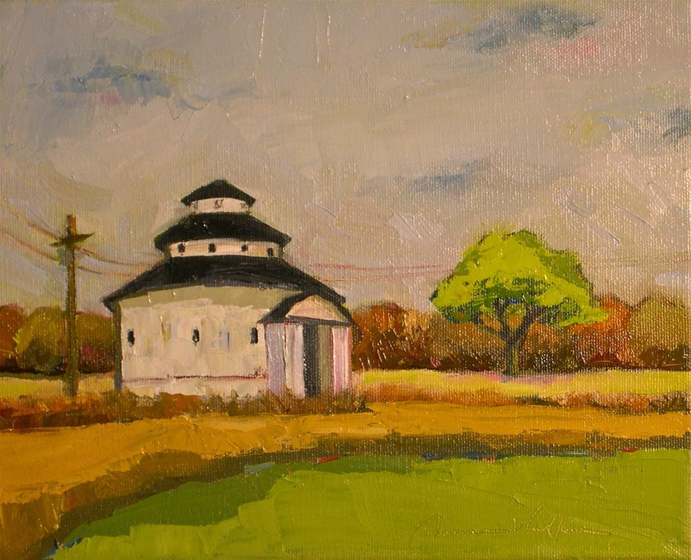 """The Round Barn"" original fine art by Donna Walker"