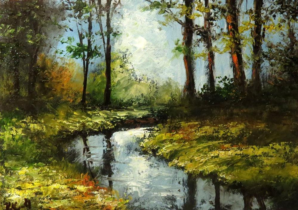 """Reflected Trees"" original fine art by Bob Kimball"