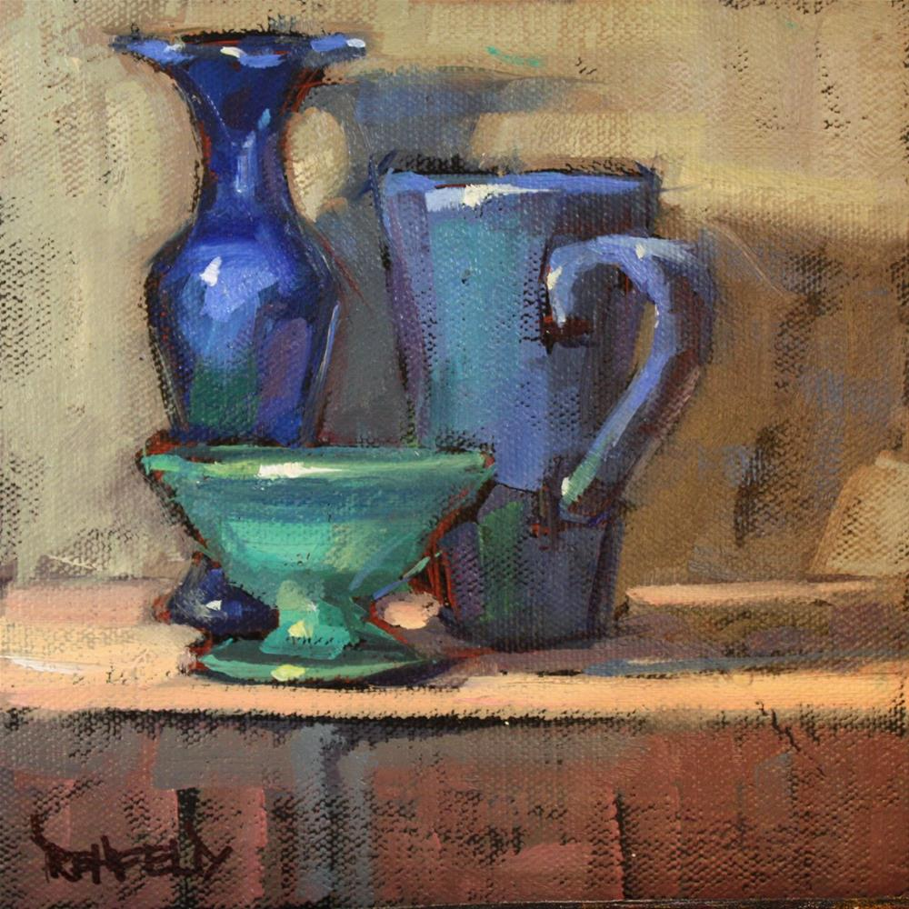 """The Blues"" original fine art by Cathleen Rehfeld"