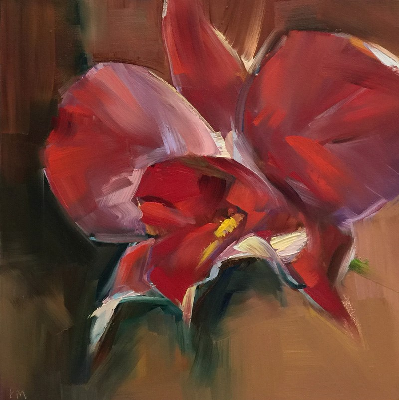 """Hovercraft Orchid"" original fine art by Patti McNutt"