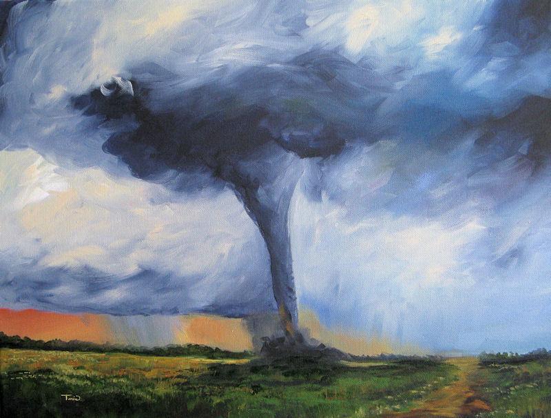 """Tornado"" original fine art by Torrie Smiley"