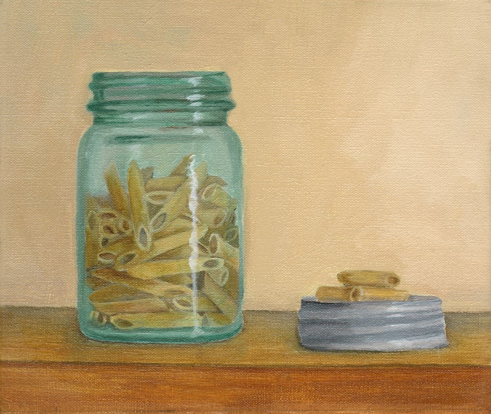 """Jar of Pasta"" original fine art by Susan Fern"