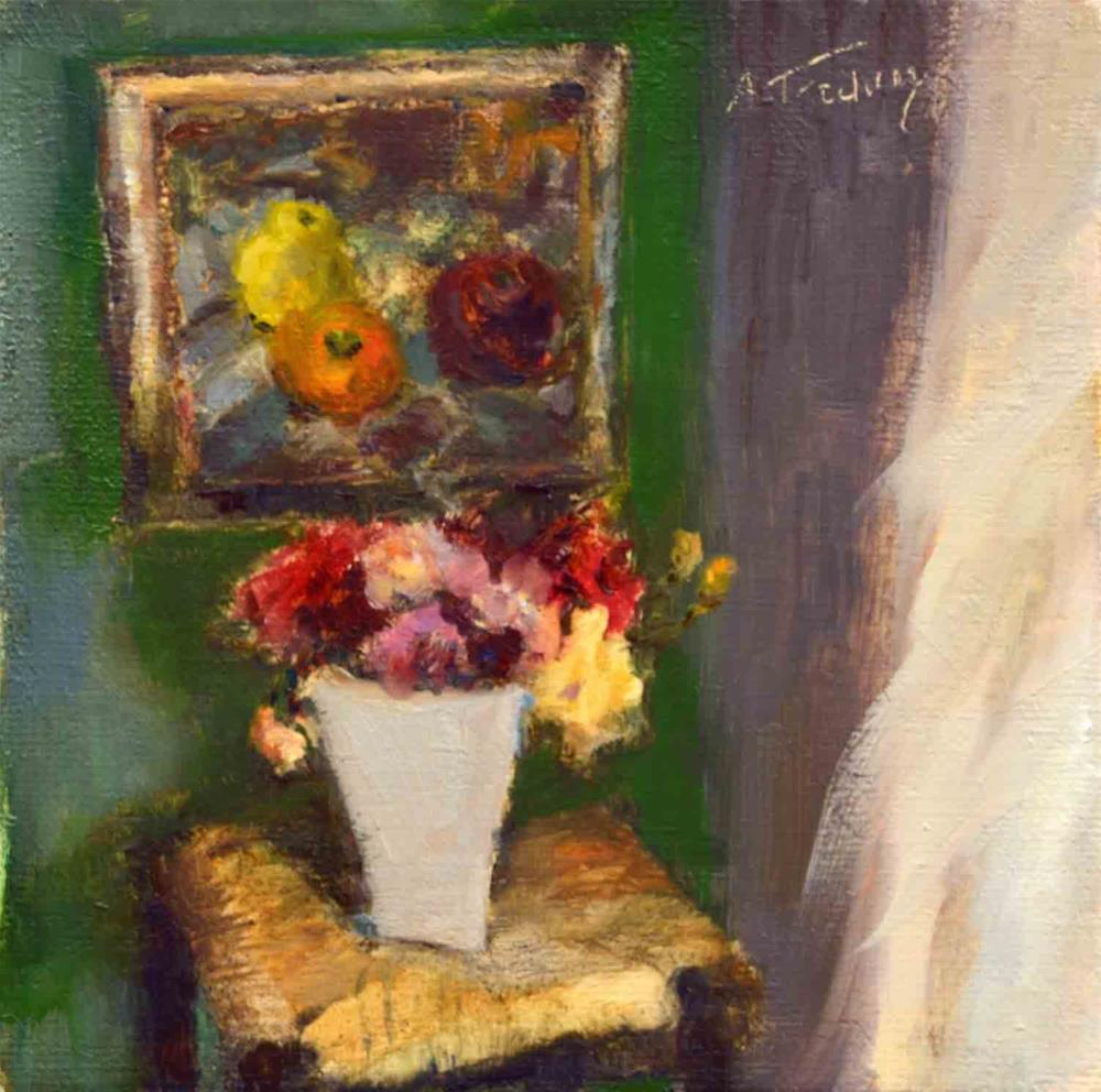 """Bouquet on Chair"" original fine art by alicia tredway"