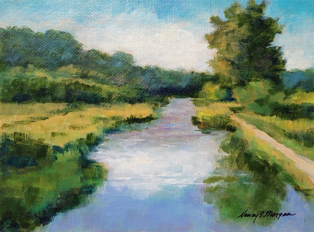 """Trout Run Trail"" original fine art by Nancy F. Morgan"