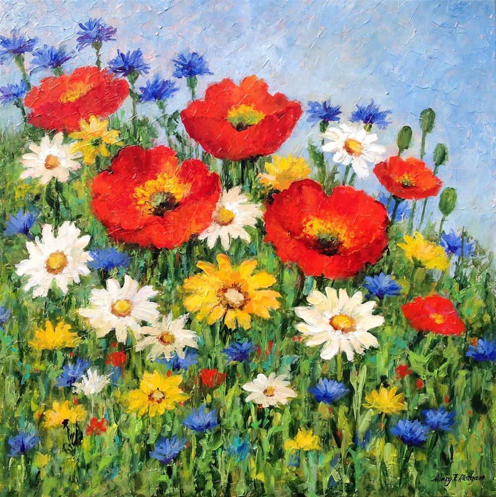 """Patty's Poppies"" original fine art by Nancy F. Morgan"