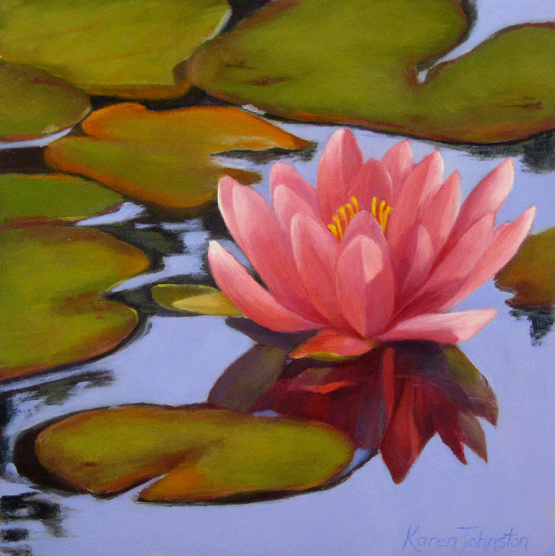 """Waterlily"" original fine art by Karen Johnston"