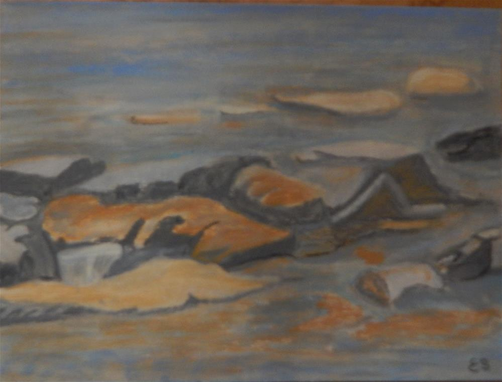 """Low Tide at Kingston Landing"" original fine art by Elaine Shortall"