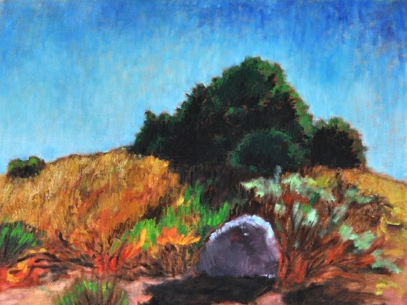 """Landscape at Mission Trails"" original fine art by Kevin Inman"