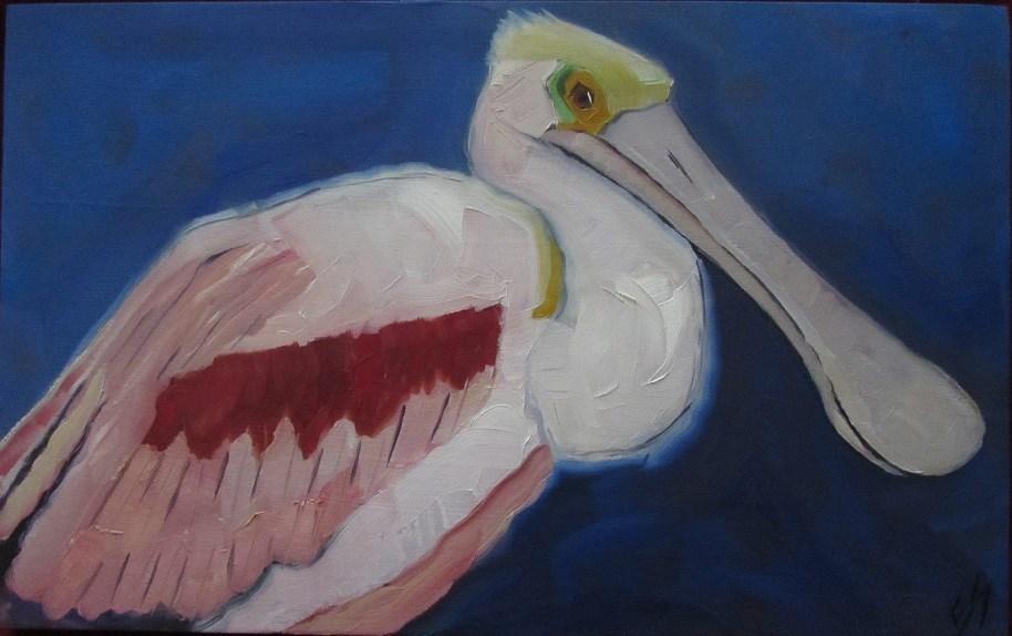 """Spoonbill"" original fine art by Elizabeth See"