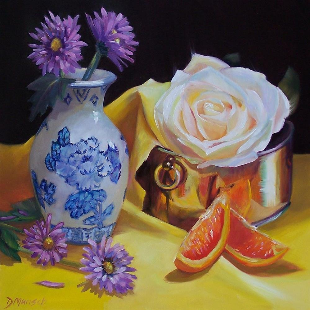 """""""Romantic Flowers"""" original fine art by Donna Munsch"""