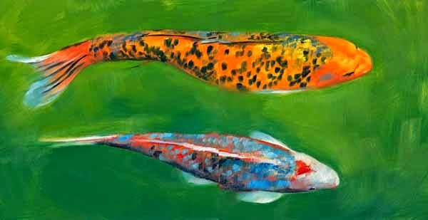 """Heads or Tails - Diptych"" original fine art by Brenda Ferguson"