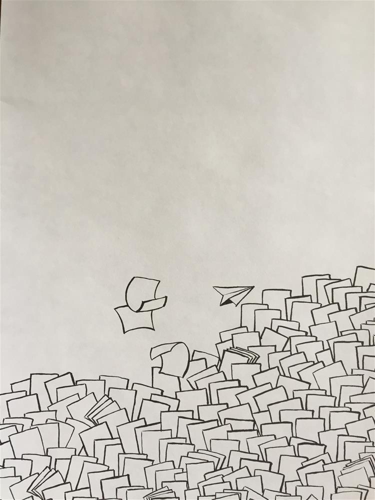 """""""paperless II"""" original fine art by Arron McGuire"""
