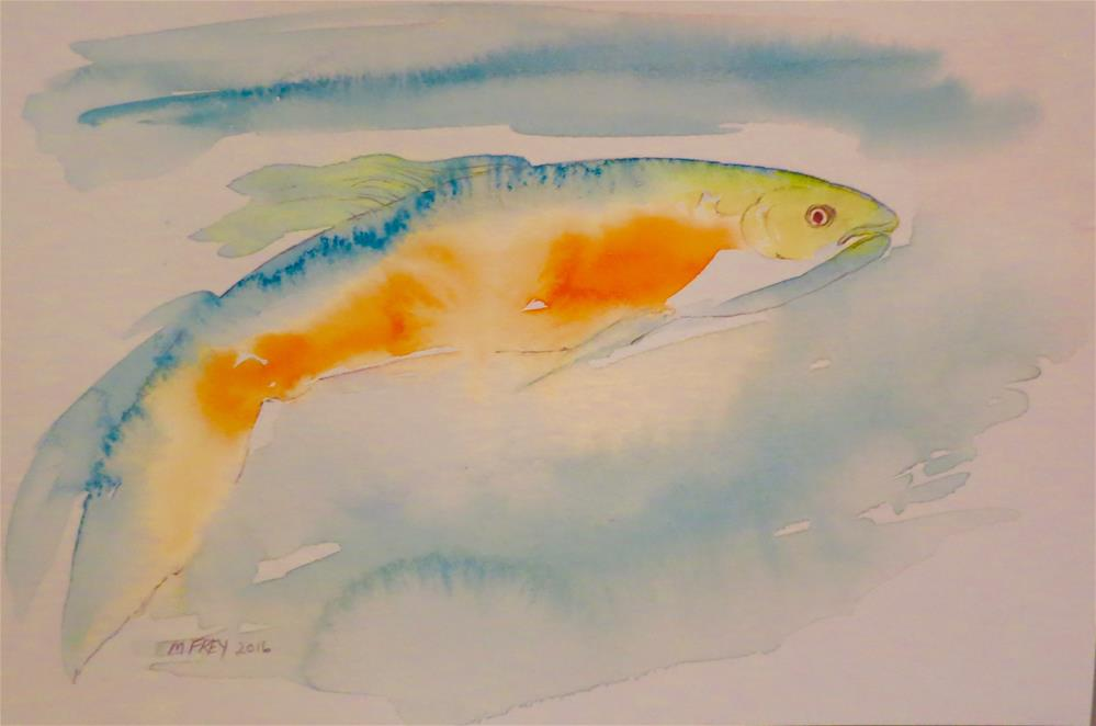 """Fish 0125"" original fine art by Michelina Frey"