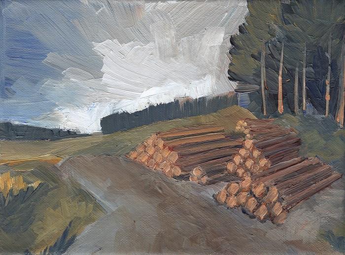 """Scottish Pines"" original fine art by J M Needham"