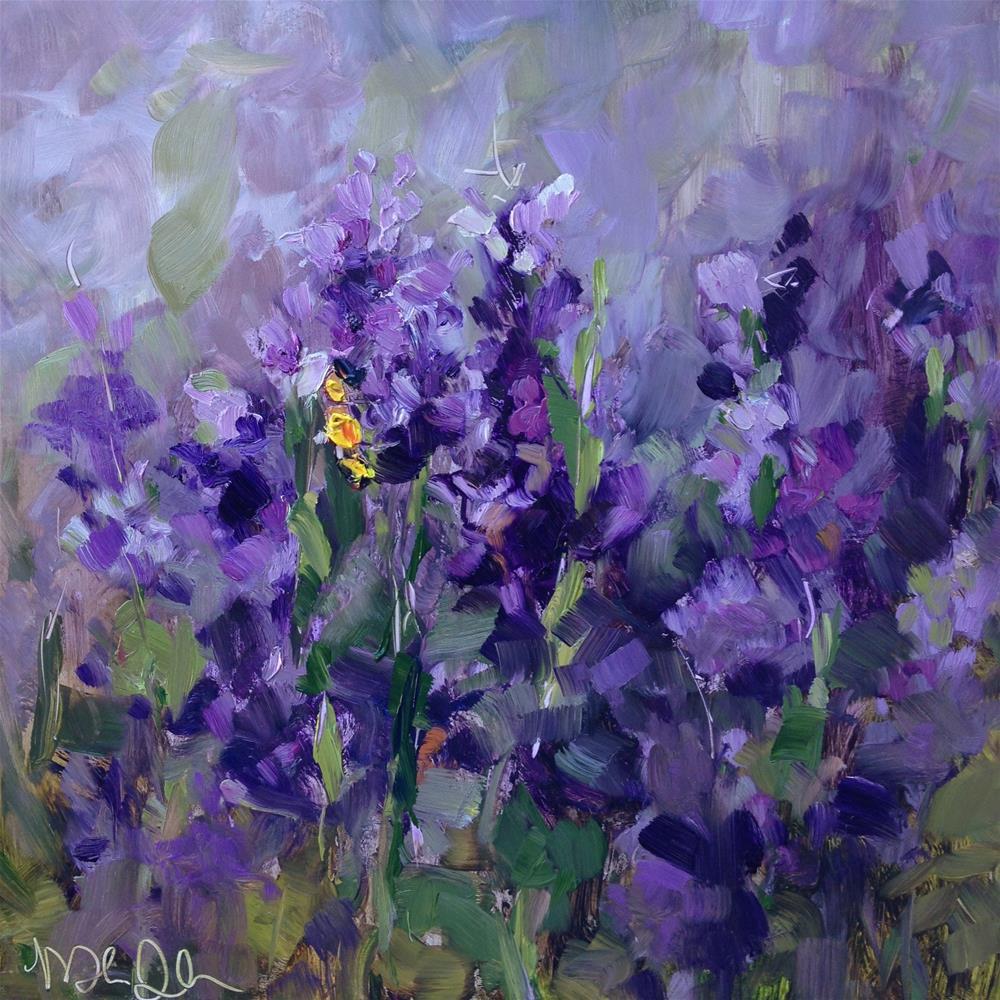 """Lavender Bee II"" original fine art by Melissa Jander"