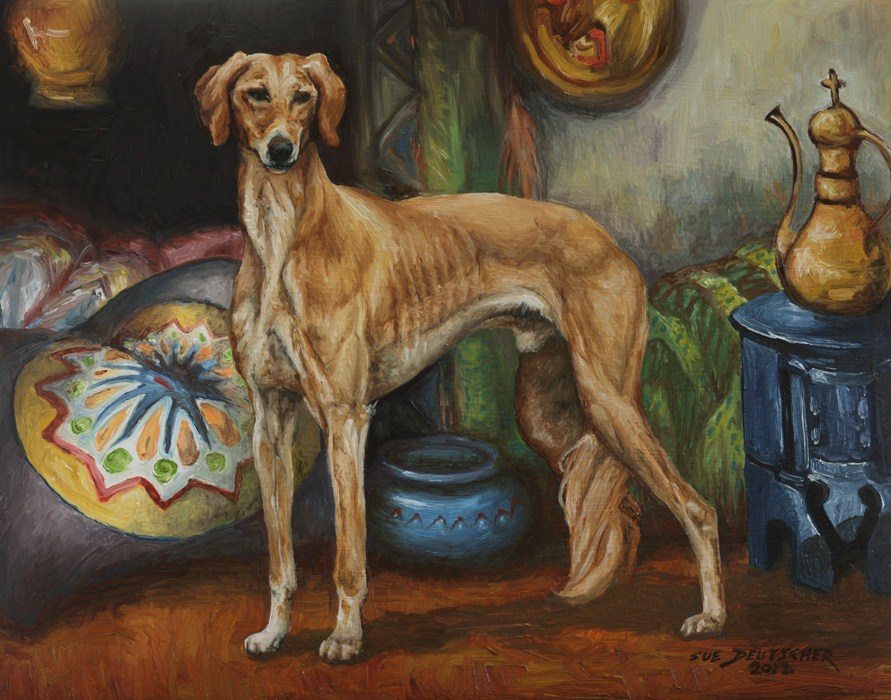 """Saluki 120714"" original fine art by Sue Deutscher"
