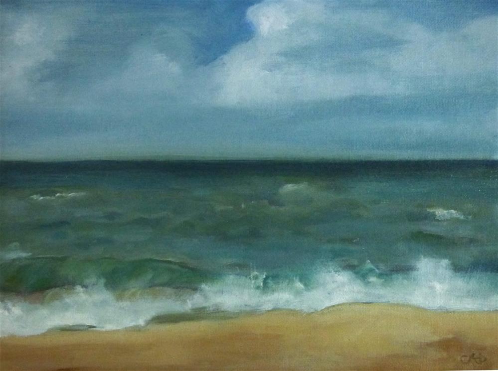 """Avon Shore"" original fine art by Christine Angelotta Dixon"