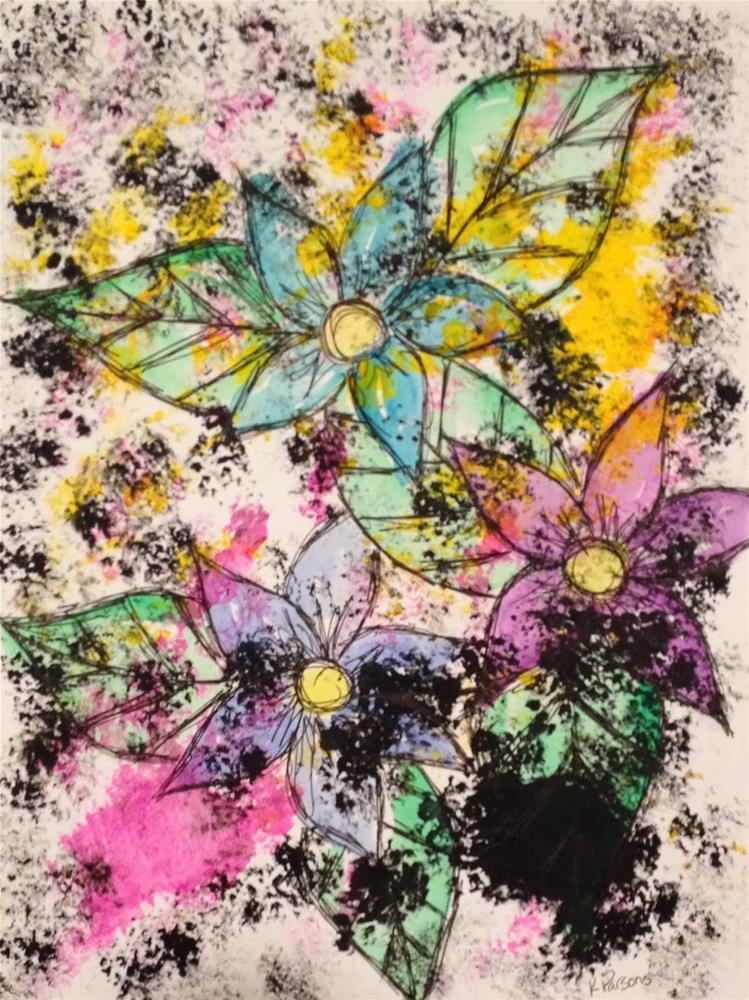 """Tarnished Bouquet"" original fine art by Kali Parsons"