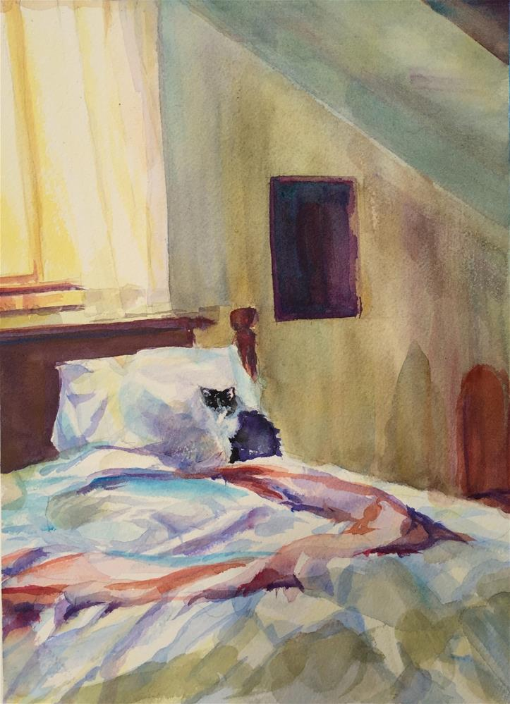 """Upstairs Bedroom"" original fine art by Jean Krueger"