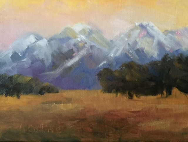 """Sunrise over the Tetons"" original fine art by Kathy Collins"