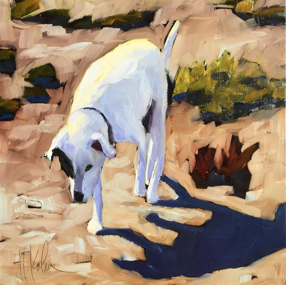"""Opie"" original fine art by Hallie Kohn"