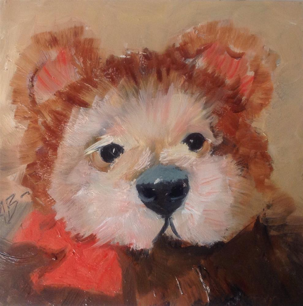 """Toy Brown Bear"" original fine art by Annette Balesteri"