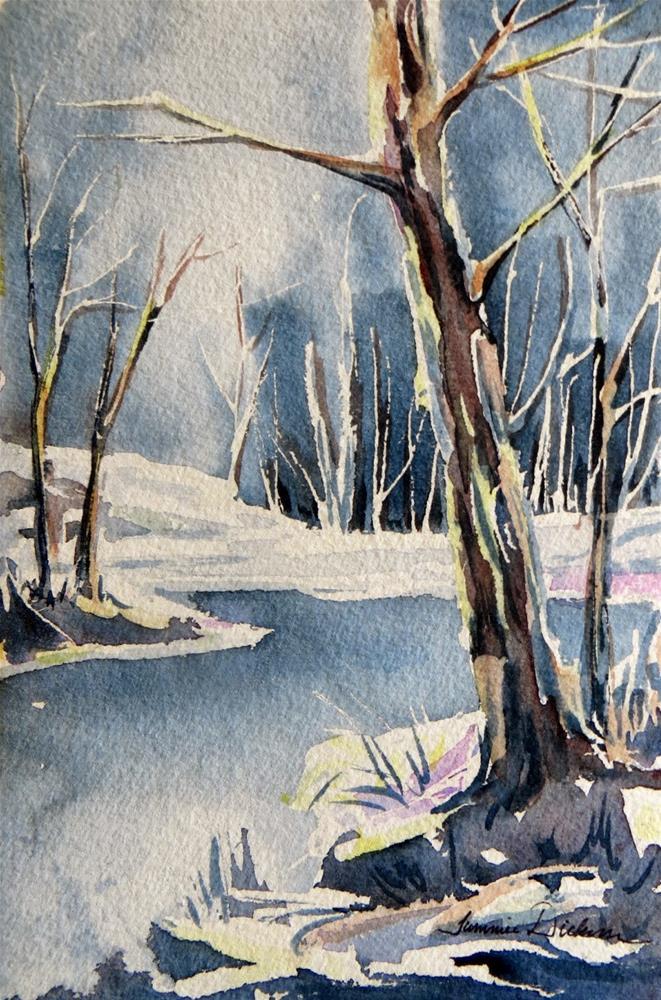 """""""Tree by Winter Creek"""" original fine art by Tammie Dickerson"""