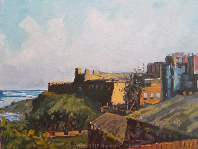 """Afternoon in Old San Juan"" original fine art by Hannah C. Heyer"